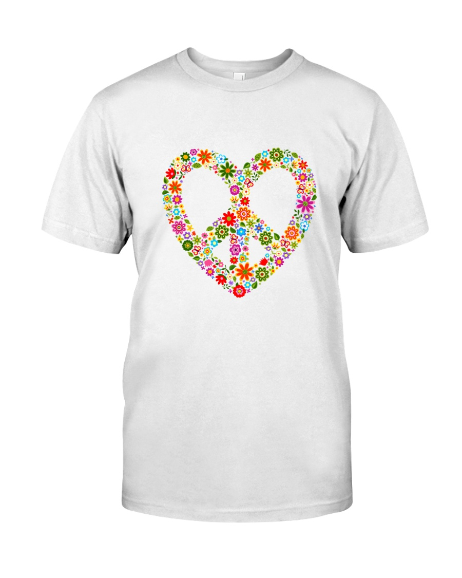 PEACE LOVE Premium Fit Mens Tee