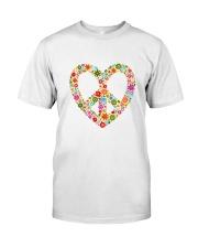 PEACE LOVE Premium Fit Mens Tee front