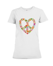 PEACE LOVE Premium Fit Ladies Tee thumbnail
