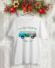 LOVE PEACE ROAD TRIP Classic T-Shirt lifestyle-holiday-crewneck-front-2