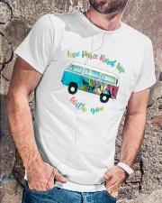 LOVE PEACE ROAD TRIP Classic T-Shirt lifestyle-mens-crewneck-front-4