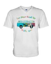 LOVE PEACE ROAD TRIP V-Neck T-Shirt thumbnail