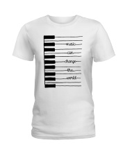 MUSIC CAN CHANGE THE WORLD  Ladies T-Shirt thumbnail