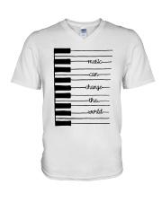 MUSIC CAN CHANGE THE WORLD  V-Neck T-Shirt thumbnail