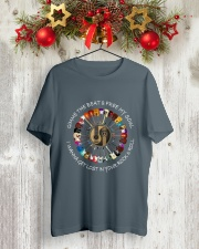 PEACE ROCK Classic T-Shirt lifestyle-holiday-crewneck-front-2