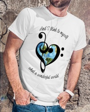 Myself What A Wonderful World 5 Classic T-Shirt lifestyle-mens-crewneck-front-4
