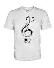 Let It Be Music Note V-Neck T-Shirt thumbnail