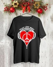 PEACE HEART Classic T-Shirt lifestyle-holiday-crewneck-front-2