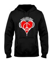 PEACE HEART Hooded Sweatshirt thumbnail