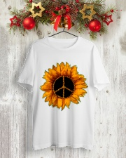 PEACE SUNFLOWER 2 Classic T-Shirt lifestyle-holiday-crewneck-front-2