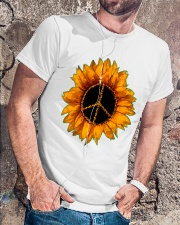 PEACE SUNFLOWER 2 Classic T-Shirt lifestyle-mens-crewneck-front-4