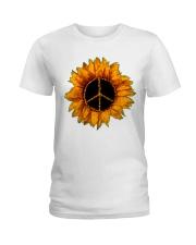 PEACE SUNFLOWER 2 Ladies T-Shirt thumbnail