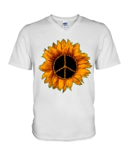 PEACE SUNFLOWER 2 V-Neck T-Shirt thumbnail