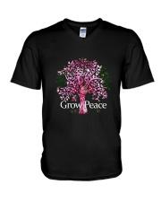 Grow Peace V-Neck T-Shirt thumbnail