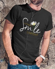 DON'T FORGET TO SMILE EVERYDAY Classic T-Shirt lifestyle-mens-crewneck-front-4