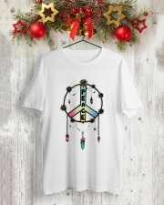 Peace Paiting Classic T-Shirt lifestyle-holiday-crewneck-front-2