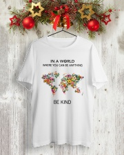 Be Kind In A World Classic T-Shirt lifestyle-holiday-crewneck-front-2
