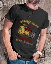 Camping lady Classic T-Shirt lifestyle-mens-crewneck-front-4