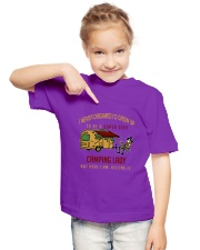 Camping lady Youth T-Shirt lifestyle-youth-tshirt-front-2