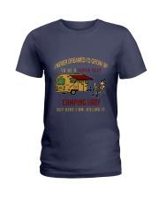 Camping lady Ladies T-Shirt thumbnail