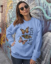 BUTTERFLY Crewneck Sweatshirt lifestyle-unisex-sweatshirt-front-3
