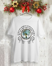 What a wonderful world 1 Classic T-Shirt lifestyle-holiday-crewneck-front-2