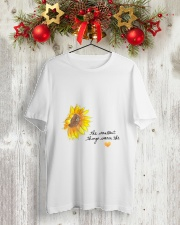 THE SMALLEST THINGS WARM THE HEART Classic T-Shirt lifestyle-holiday-crewneck-front-2