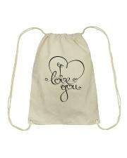 LOVE YOU Drawstring Bag thumbnail