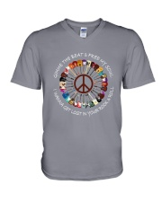 PEACE ROCK V-Neck T-Shirt tile