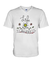 LIFE IS BEAUTIFUL V-Neck T-Shirt tile
