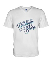 ONLY IN THE DARKNESS CAN YOU SEE THE STARS V-Neck T-Shirt thumbnail
