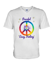 Peace Love Music V-Neck T-Shirt tile
