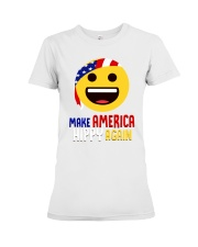 MAKE AMERICA HIPPY AGAIN Premium Fit Ladies Tee tile