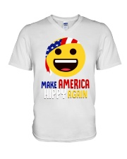 MAKE AMERICA HIPPY AGAIN V-Neck T-Shirt tile