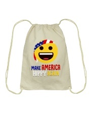 MAKE AMERICA HIPPY AGAIN Drawstring Bag tile