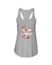 PEACE LOVE Ladies Flowy Tank thumbnail