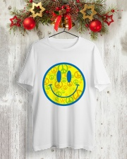 SMILE PEACE Classic T-Shirt lifestyle-holiday-crewneck-front-2