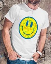 SMILE PEACE Classic T-Shirt lifestyle-mens-crewneck-front-4