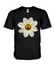 FLOWER PEACE V-Neck T-Shirt thumbnail