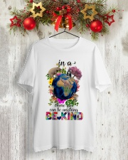 PEACE BE KIND Classic T-Shirt lifestyle-holiday-crewneck-front-2