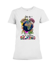 PEACE BE KIND Premium Fit Ladies Tee thumbnail