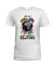 PEACE BE KIND Ladies T-Shirt thumbnail