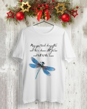 May You Touch Dragonflies And Stars Classic T-Shirt lifestyle-holiday-crewneck-front-2