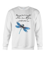 May You Touch Dragonflies And Stars Crewneck Sweatshirt thumbnail