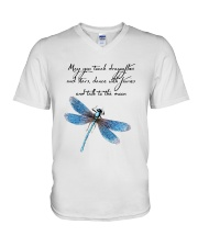 May You Touch Dragonflies And Stars V-Neck T-Shirt thumbnail