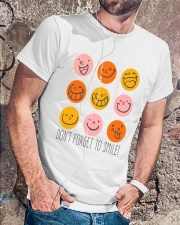DON'T FORGET TO SMILE Classic T-Shirt lifestyle-mens-crewneck-front-4