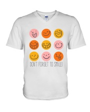 DON'T FORGET TO SMILE V-Neck T-Shirt thumbnail