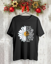 FLOWER PEACE Classic T-Shirt lifestyle-holiday-crewneck-front-2