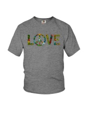 PEACE LOVE Youth T-Shirt tile