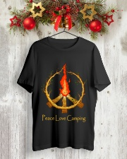 PEACE LOVE CAMPING Classic T-Shirt lifestyle-holiday-crewneck-front-2